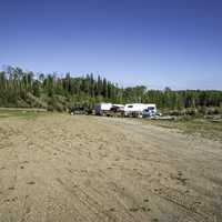 RV's at Hutch lake Camp, Alberta