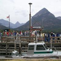 Coming off the boats in Waterton Lake National Park