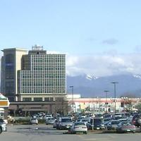 Downtown Abbotsford and Central Business District in British Columbia, Canada