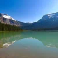 Emerald Lake in the Canadian Rockies landscape
