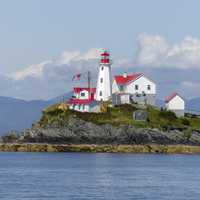 Lighthouse on a Peninsula in British Columbia, Canada