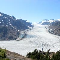 Panoramic Landscape of the Salmon Glacier in British Columbia, Canada