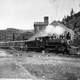 Trains at the Mother Lode Mine near Greenwood, 1903 in British Columbia, Canada