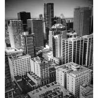 Black and White Skyscrapers in Vancouver, British Columbia, Canada
