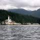 Lighthouse on the shore in Vancouver, British Columbia