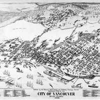 Panorama of Vancouver, 1898 in British Columbia