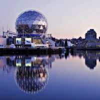 Science World skyline in Vancouver, British Columbia, Canada