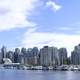 Vancouver skyline from Stanley Park in British Columbia, Canada