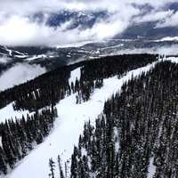 Whistler Skiing runs in British Columbia