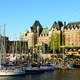 Inner Harbor with boats and buildings in Victoria, British Columbia, Canada