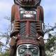 Totem pole on the Inner Harbour in Victoria, British Columbia
