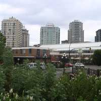 Victoria's skyline in May 2006 from Thunderbird Park in British Columbia, Canada