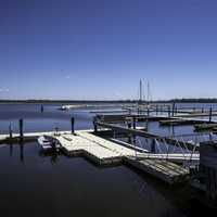 Boat Docks on Lake Winnipeg at Hecla Provincial Park