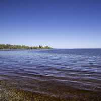Calm Waters of Lake Winnipeg at Hecla Provincial Park