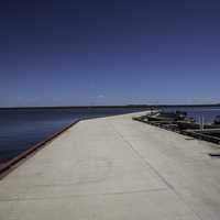 Long Boat Dock out into Lake Winnipeg