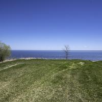 Looking at Lake Winnipeg and the horizon at Hecla Provincial Park