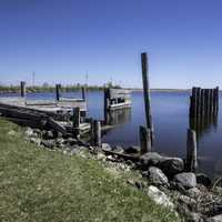 Rotting Boat Launch at Hecla Provincial Park