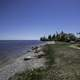 Shoreline by Hecla Provincial Park of Lake Winnipeg landscape