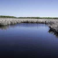 Water flowing through the wetlands at Hecla Provincial Park