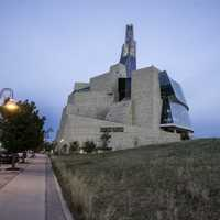 View of the Human Rights Museum in Winnipeg
