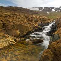 Cascading Streams on the mountainside in Gros Morne National Park