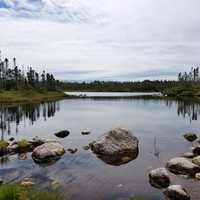 Little Pond landscape in Gros Morne National Park