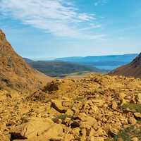 Tablelands rocky landscape and mountains