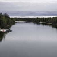 Channel flowing into Great Slave Lake at Dettah