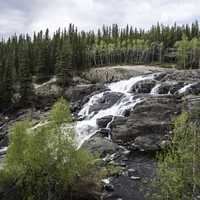 Fuller View of Cameron Falls on the Ingraham Trail