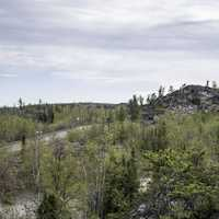 Hilltops with trees and landscapes on the Ingraham Trail