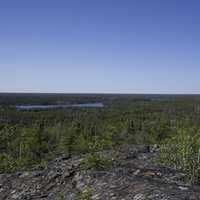 Overlook of Lakes and Pine Forest Landscape on the Ingraham Trail