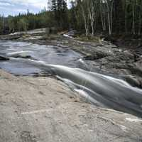 Smooth flowing Water of the Cameron River on the Ingraham Trail