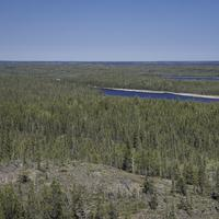 Two Lakes in the Pine Forest on the Ingraham Trail