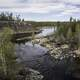 Upstream landscape on the Cameron River on the Ingraham Trail