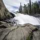 Water Falling from the top of Cameron Falls on the Ingraham Trail