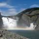 Virginia Falls scenic landscape in Nahanni National Park