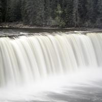 Closeup of Lady Evelyn Falls