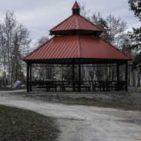 Gazebo by Great Slave Lake at North Arm Territorial Park