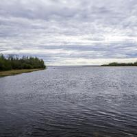 Looking and the mouth of the Kakisa River