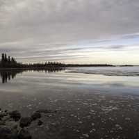 Peaceful and Serene landscape of Great Slave Lake