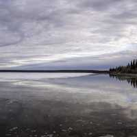 Scenic Lakeshore Landscape of Great Slave Lake