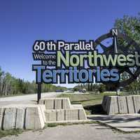 Welcoming sign to the Northwest Territories
