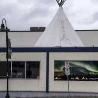 Aurora Village with Tent in Yellowknife
