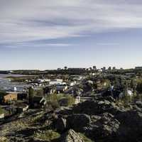 Overlook of the town of Yellowknife from Pilot's Monument