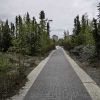 Path to the Northern Heritage Centre in Yellowknife