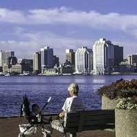 Halifax as seen from the Dartmouth waterfront in Nova Scotia, Canada