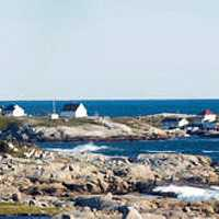 Peggy's cove and the lighthouse with the sea in Halifax, Nova Scotia