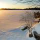 Sunrise on Frozen lake Echo in Halifax, Nova Scotia