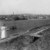 Waterfront of Halifax in 1917 in Nova Scotia, Canada