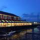 Waterfront scenery at night in Halifax, Nova Scotia